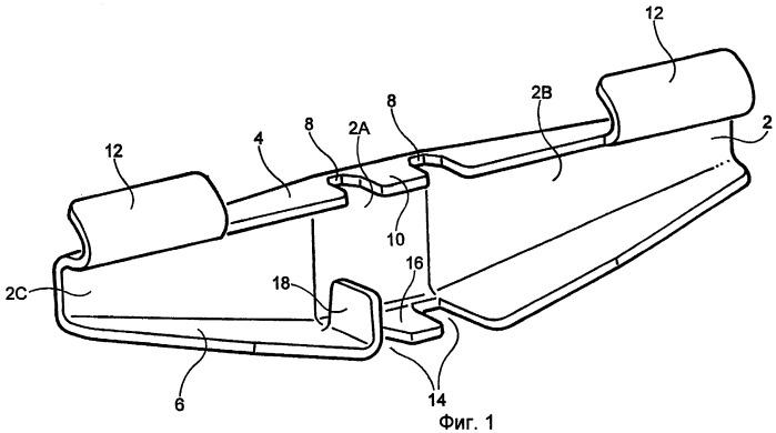 Соединительная накладка для трассы кабеля из проволочных нитей