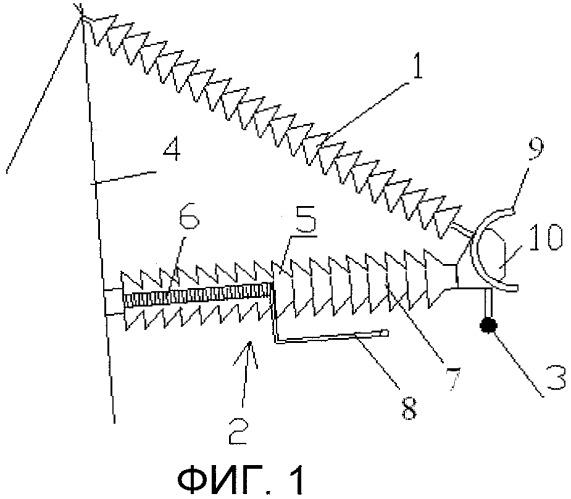 Устройство грозозащиты для воздушной линии электропередачи (варианты)