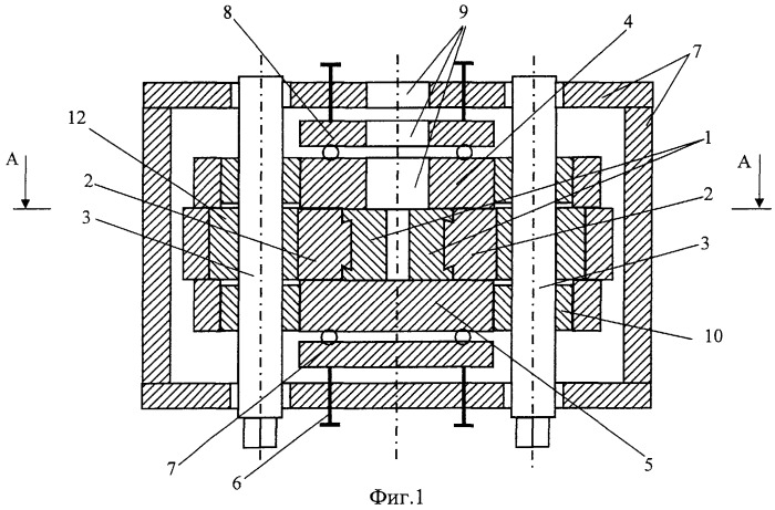 Устройство для непрерывного горизонтального литья и деформации металла