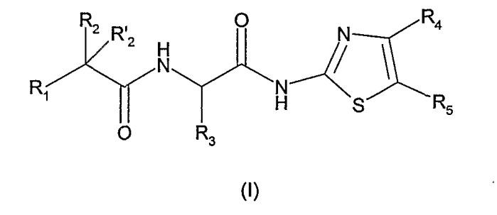 Производные алкиламинотиазола, их получение и их применение в терапии