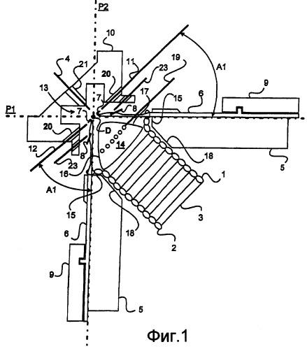 Трикотажное устройство для изготовления толстого текстиля с двухсторонней лицевой стороной