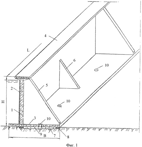 Способ блок-модульного строительства гидротехнических сооружений в подводных котлованах