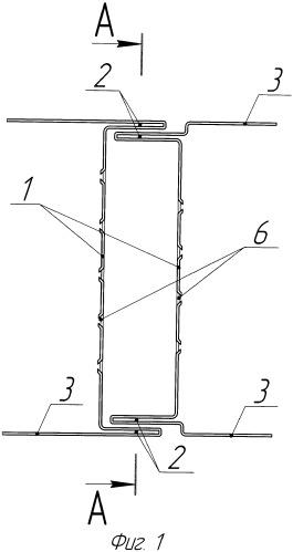 Замковый узел стыкового соединения панелей (варианты)