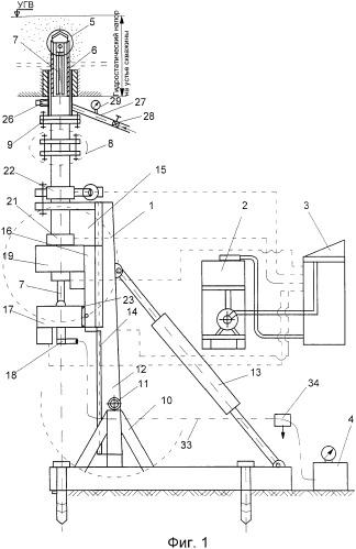Способ сооружения восстающей скважины для вскрытия одного или более напорных рыхлых водоносных горизонтов и устройство для его осуществления