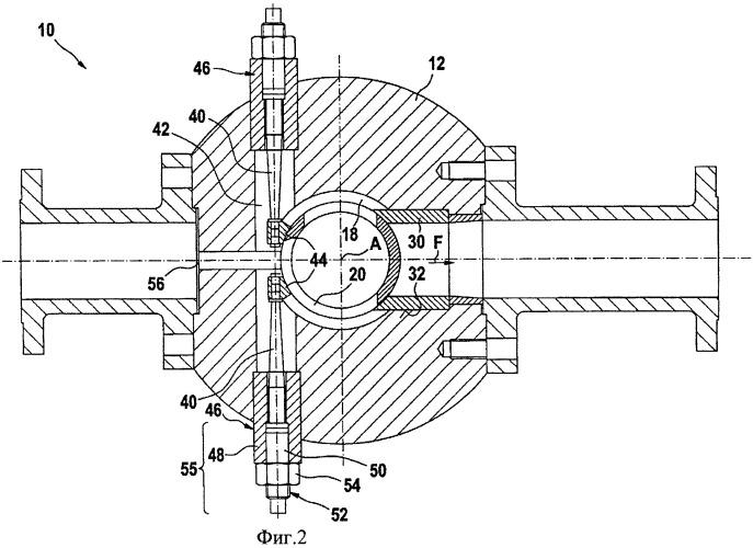 Регулирующий поток клапан для псевдоожиженного материала