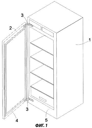 Холодильный аппарат с пластмассовой фронтальной рамкой