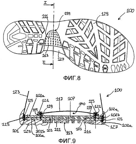 Обувь с воздухопроницаемой подошвой