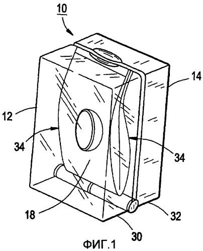 Упаковка для глазной линзы с разрывным мешочком и способ ее использования
