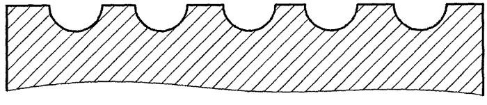 Способ формирования плосковершинного регулярного микрорельефа выглаживанием