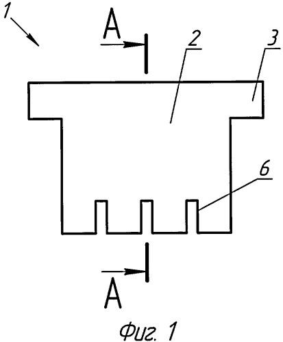 Пустотообразователь установки для изготовления керамического брикета