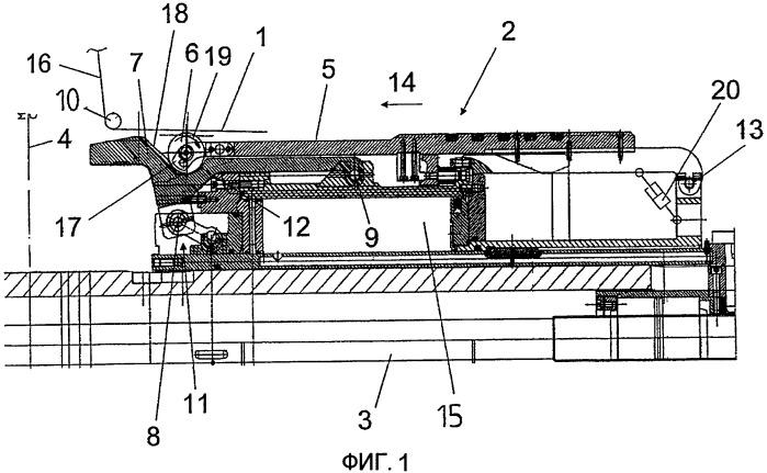 Устройство для загибания кромок слоев компонента шины на барабане для сборки шин