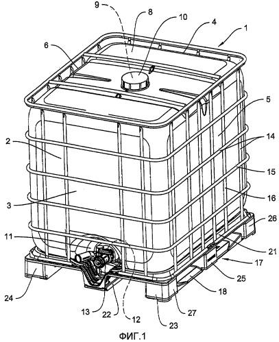 Емкость для транспортировки и хранения жидкостей