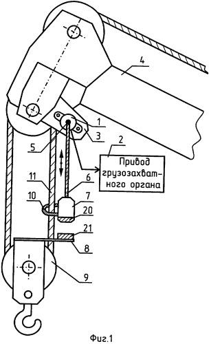Ограничитель высоты подъема грузозахватного устройства грузоподъемного крана (варианты)
