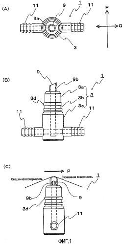 Соединительный механизм между контейнером для напитка и раздаточным устройством для напитка и раздаточное устройство для напитка, использующее этот механизм