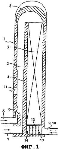 Опорный узел для поддержания регенеративной насадки в воздухонагревателе, воздухонагреватель, снабженный указанным опорным узлом, способ получения горячего воздуха с использованием указанного воздухонагревателя