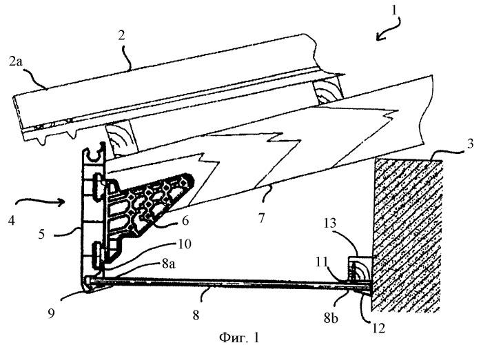Устройство для крепления облицовки свеса крыши