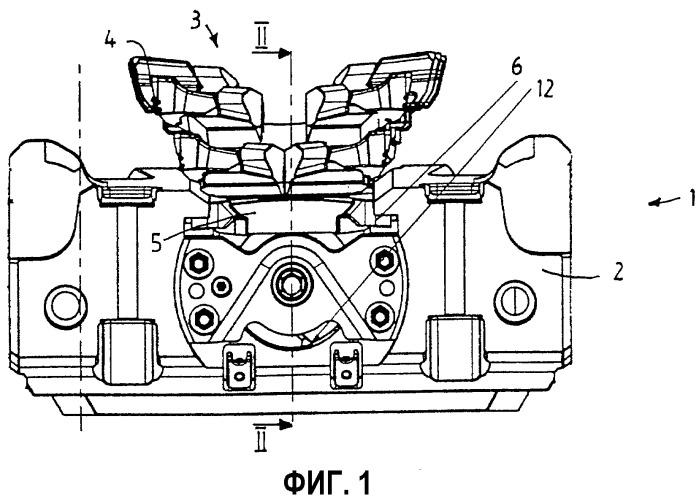 Регулирующее устройство для держателя верхнего резца и добычной струг с таким устройством