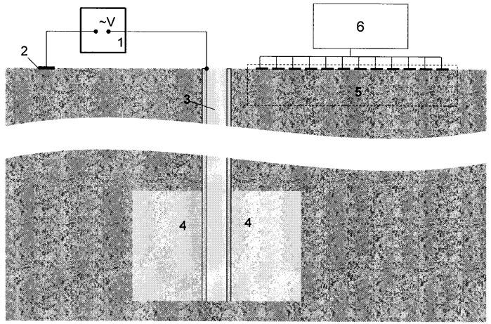 Способ определения формы и размеров области заводнения нефтяного пласта в окрестностях скважины
