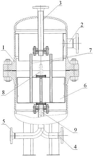 Поплавковый регулятор уровня жидкости в сепараторе