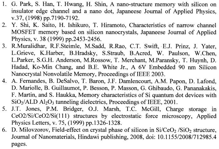 Устройство памяти на тонкопленочной структуре кремния на стекле