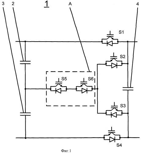 Коммутационная ячейка и схема преобразователя для переключения большого количества уровней напряжения