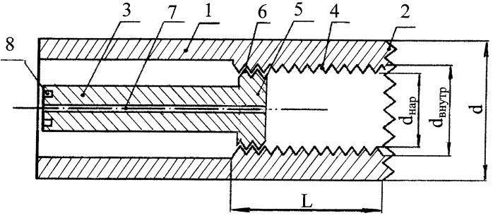 Цилиндрическая полая фреза для удаления мелких доброкачественных новообразований кости