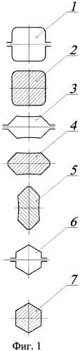 Способ прокатки шестигранных профилей