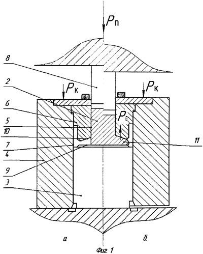 Способ объемной горячей штамповки деталей типа стаканов и чаш
