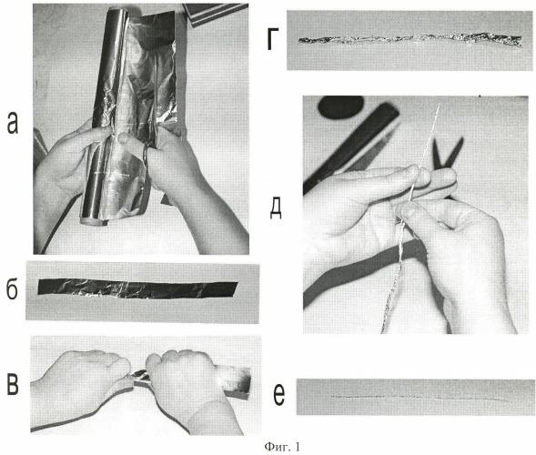 Декоративная нить из фольги для моделирования и художественного творчества и способ ее изготовления