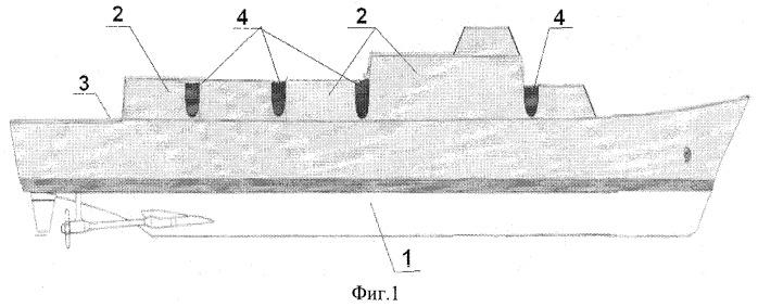 Расширительное соединение частей судовой надстройки