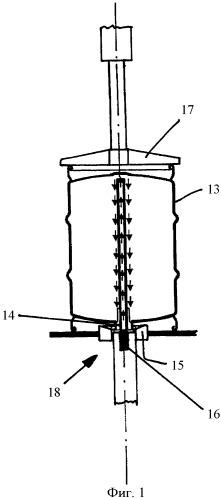 Устройство для обработки или заполнения внутреннего пространства оснащенных фитингами кегов и способ эксплуатации указанного устройства
