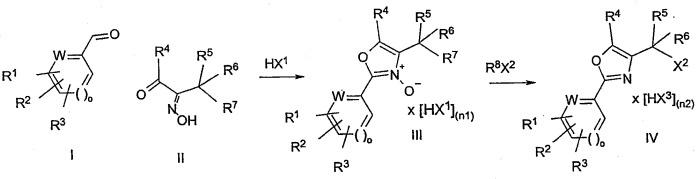 Способ получения оксазолов конденсацией ароматических альдегидов с альфа-кетоксимами с образованием n-оксидов и последующим взаимодействием с активированными производными кислот