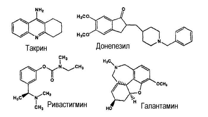 Производные такрина в качестве ингибиторов ацетилхолинэстеразы