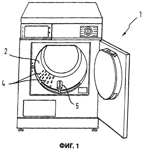 Бытовой водопотребляющий прибор с рельефным бельевым барабаном