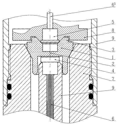 Межсекционный узел приема-передачи детонации корпусного кумулятивного перфоратора