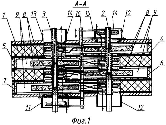 Двухвальная многоступенчатая центробежная машина многофункционального назначения