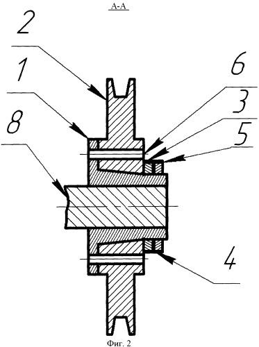 Съемная ступица для монтажа вращающегося элемента на приводном валу
