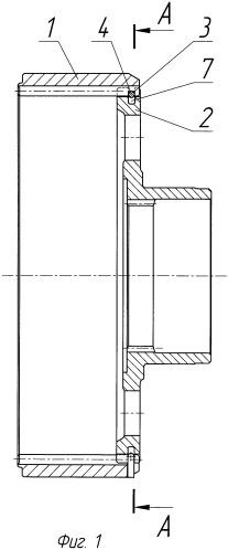 Узел крепления коронной шестерни планетарного или дифференциального редуктора