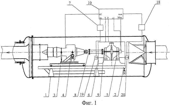 Стенд для высотно-климатических испытаний турбовинтовых и турбовальных двигателей
