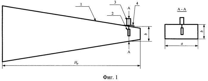 Усеченная рупорная антенна