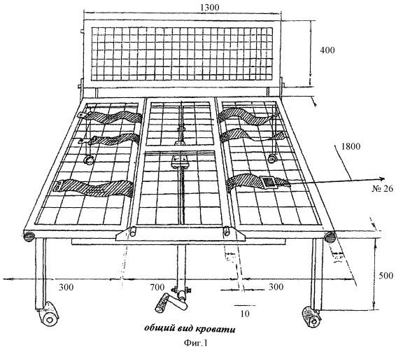 Функциональная кровать по уходу за больными