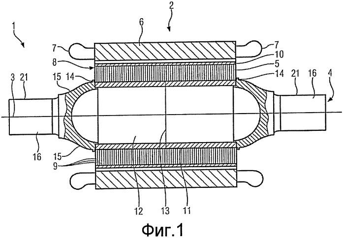Вал колесной пары для монтируемого на оси электрического приводного двигателя и блок привода
