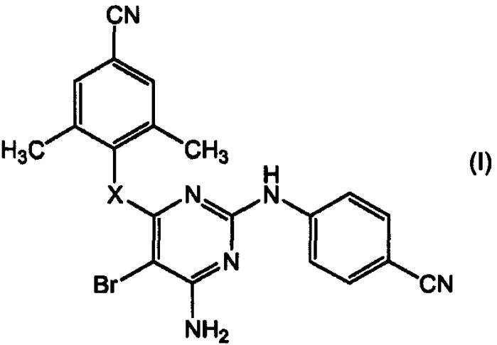 Ингибирующие вич производные 2-(4-цианофениламино)пиримидина