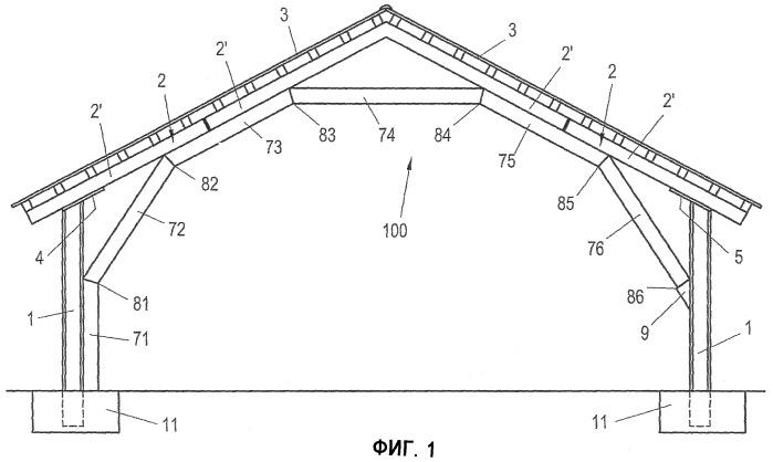 Рама для здания в форме павильона