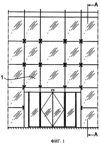 Стандартная система со сжатым стержнем для вантовой фасадной конструкции