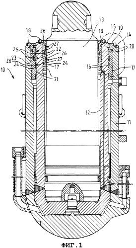 Гидравлические стойки для секций щитовой механизированной крепи и манжетодержатели для этих гидравлических стоек