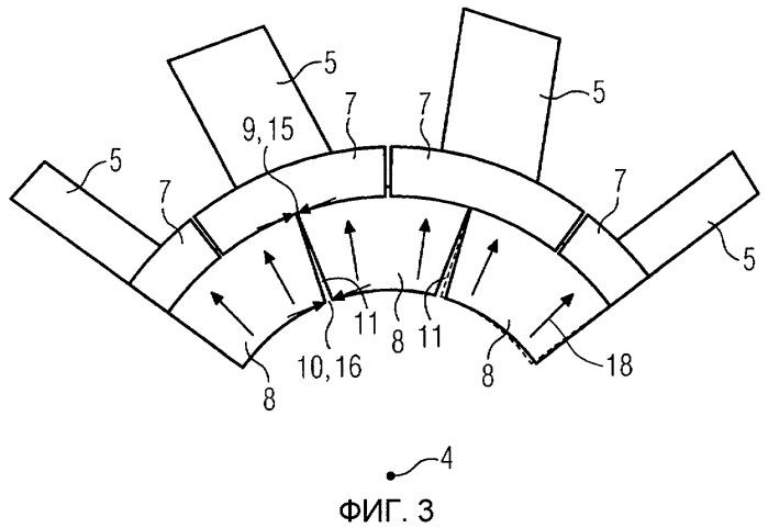 Ротор турбины со стопорными пластинками и соответствующий способ сборки