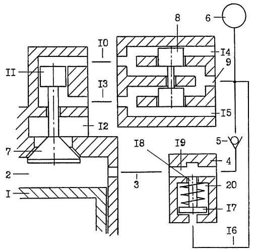 Клапан-отсечка пневматического привода газораспределительного механизма двигателя внутреннего сгорания