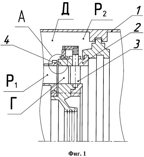 Уплотнение статора турбины
