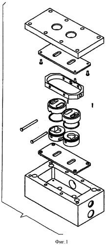 Поршневой насос с пневмораспределителем, упором и тарельчатыми клапанами